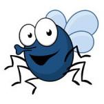 муха забавный рисунок