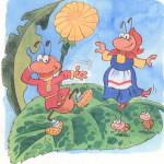 Муравей и муравьиха танцуют