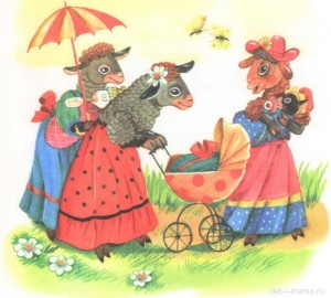 Картинка овечек для детей