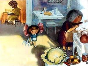 Иллюстрация к стиху Помощница, Барто