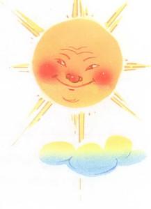 Солнышко в облаках