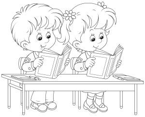 Ученики читают за партой