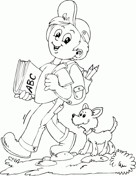 собакой детские картинки мальчик с