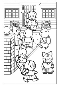 Детская раскраска школа