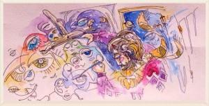 Иллюстрация к стихотворению Генрих Сапгир. Чуридило