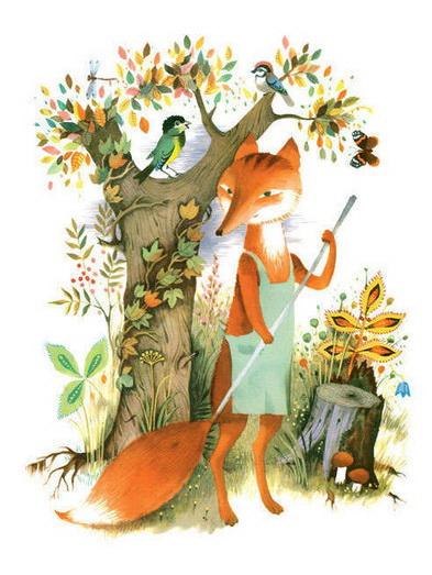 Леса-чудеса Сапгир, иллюстрация