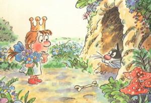 Принцесса и людоед иллюстрация