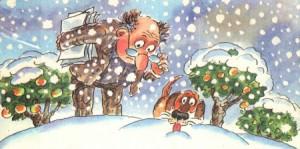 Иллюстрация к стиху Это снег Сапгир
