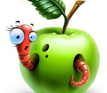Иллюстрация Про яблоко Сапгир