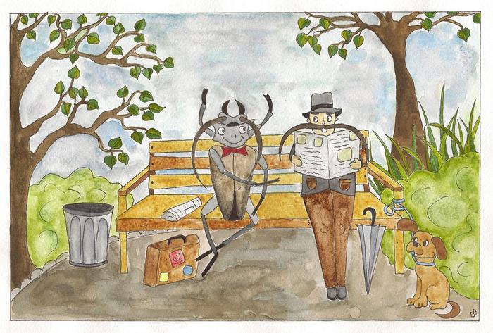 Иллюстрация Сапгира Жук-дровосек