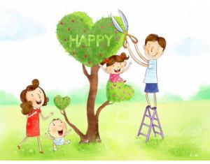 Дети, родители, семья, мама, папа, дерево, брат, сестра, счастье
