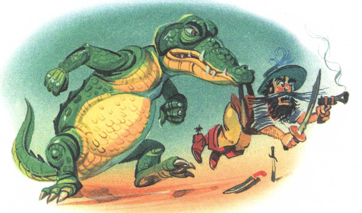 крокодил съедает бармалей
