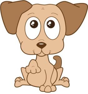 коричневый пес, собака рисунок