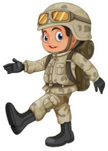 Картинка идущего солдата