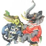 слон сел на ежа, крокодил и волки напуганы