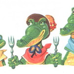 Крокодилы ждут колоши