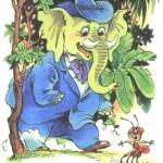 Картинка слона и муравья
