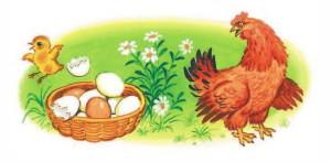 Загадка Чуковского про цыпленка и яйцо
