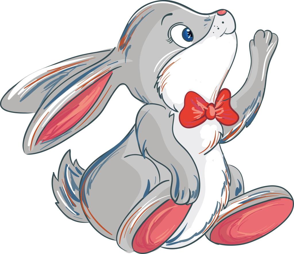Картинка зайчика для детей нарисованного
