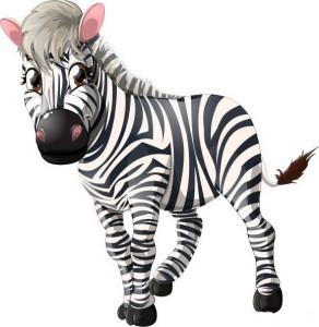 маленькая и красивая зебра рисунок