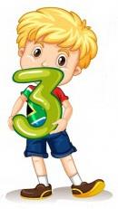 Цифра 3, три