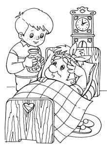 Малыш и Карлсон раскраска