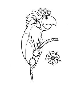 """Попугай из мультфильма """"Как Львёнок и Черепаха песню пели"""""""