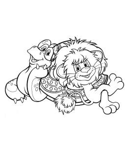 Львенок и большая Черепаха раскраска