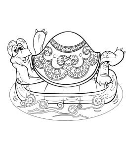 Большая Черепаха, раскраска