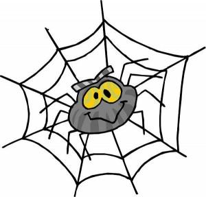 Паук на паутине, клапарт