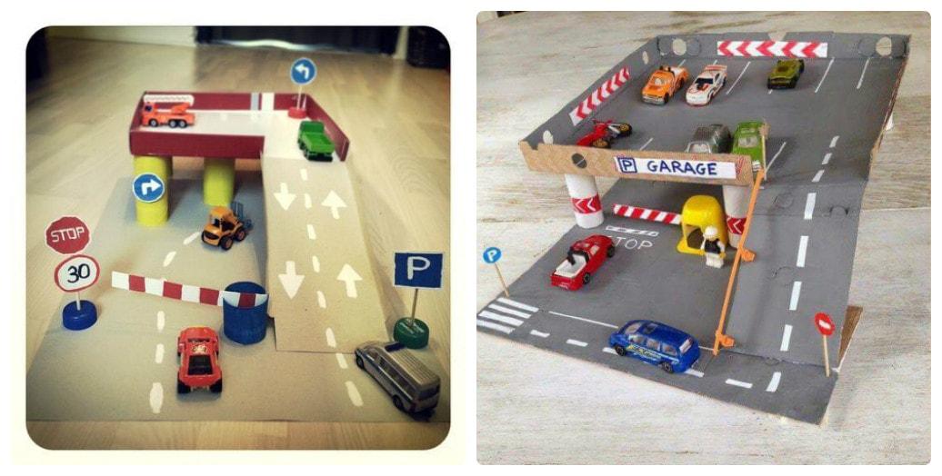 Детский гараж парковка для машинок своими руками 41