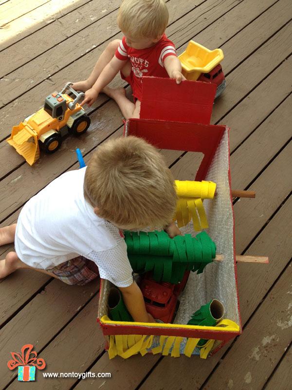 Мастерим для детей, гараж для мытья машин