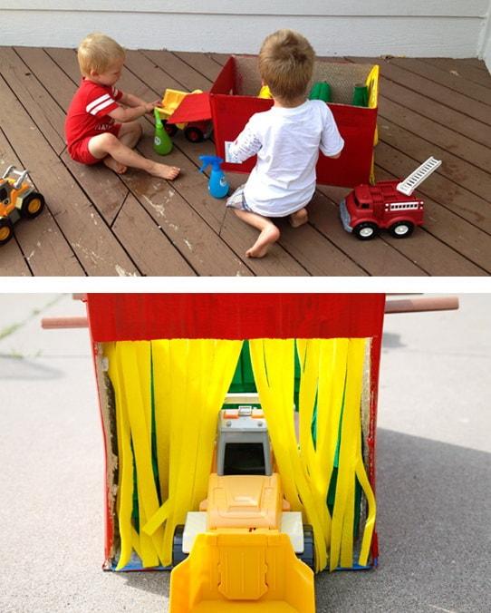 Автомойка своими руками из картонной коробки