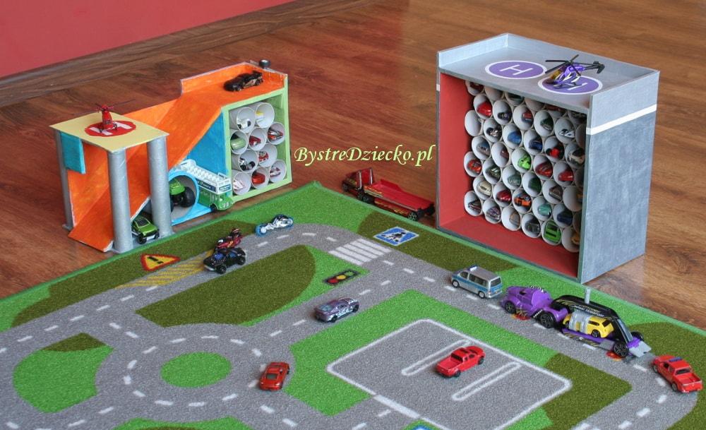 Парковка из коробки для детей своими руками фото 86
