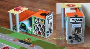 Детский гараж из картона