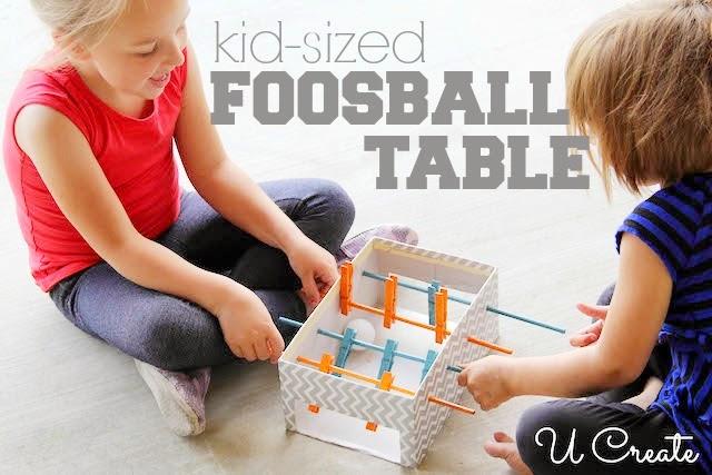 Детский настольный футбол своими руками