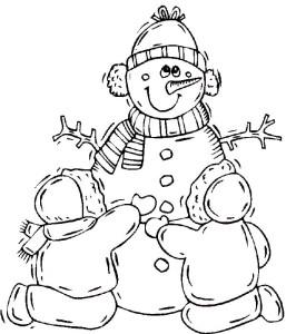Раскраска снеговика
