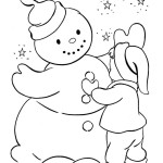 Раскраска снежной бабы