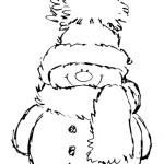 Раскраска снеговика для маленьких детей
