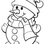 Раскраска снеговика для детского сада