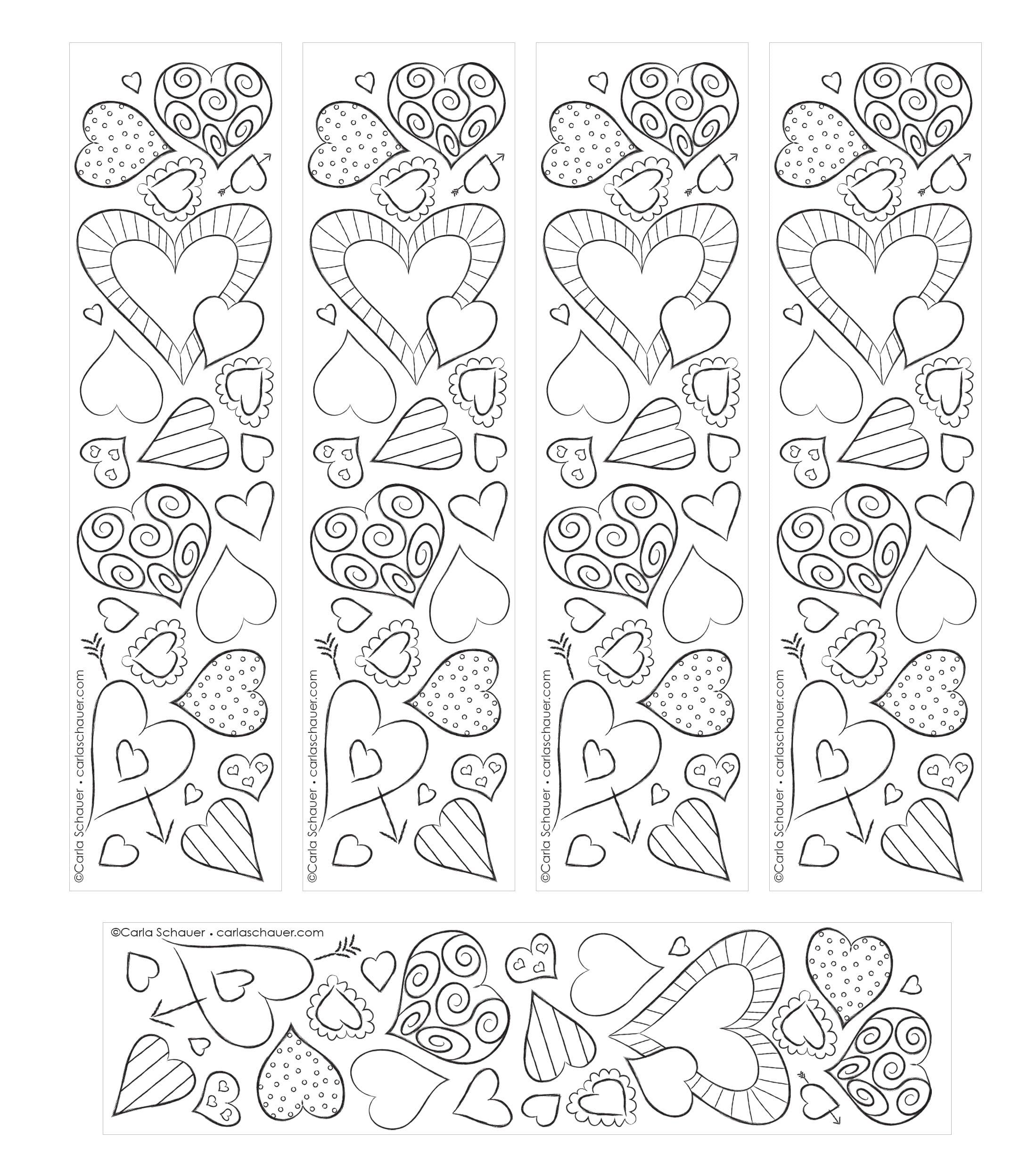 Заготовки черно-белая для печати закладки