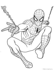 Раскраска Человек-паук