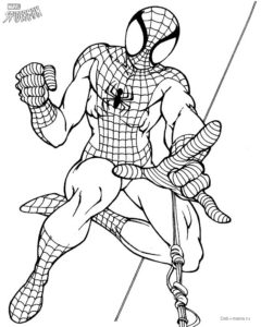 Раскраска Человек-паук — Deti-i-mama.ru