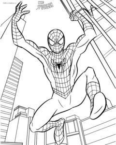 Раскраска про Человека-паука