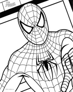 Раскраска с Человеком-пауком