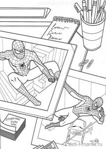 Черно-белые картинки с Человеком пауком