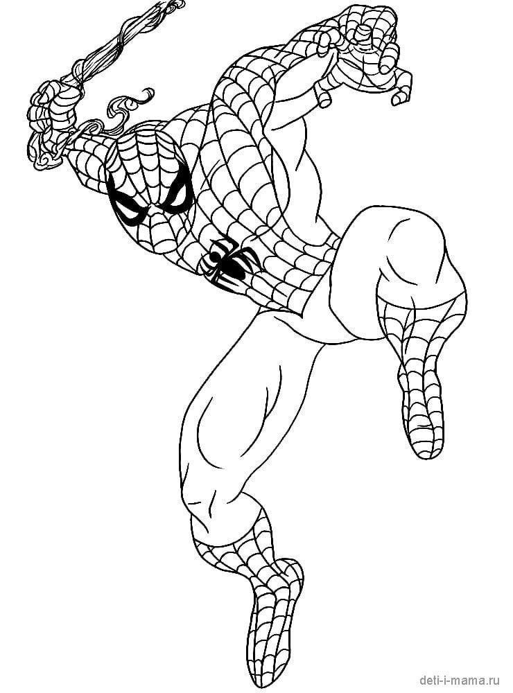 Раскраска Человека паука