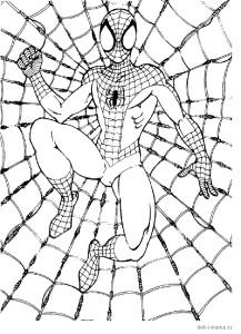 Раскраска Человека-паука