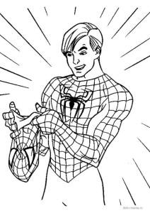 Раскраска Человек-паук без маски — Deti-i-mama.ru