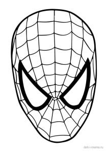 Раскраска маска Человека-паука